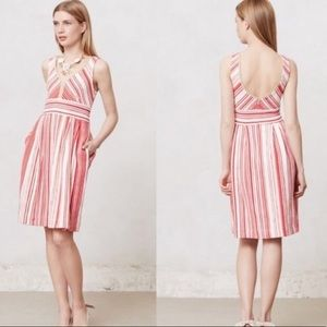 Postmark red and white striped dress